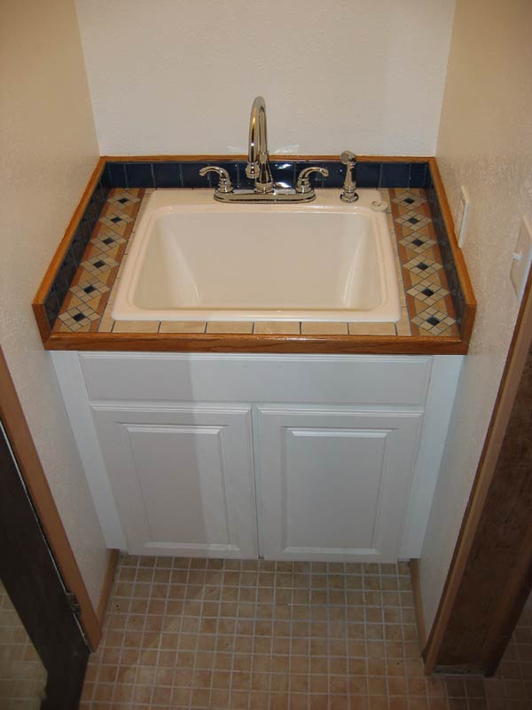 This is the new Laundry tub. Note that we dropped a tub into a kitchen ...